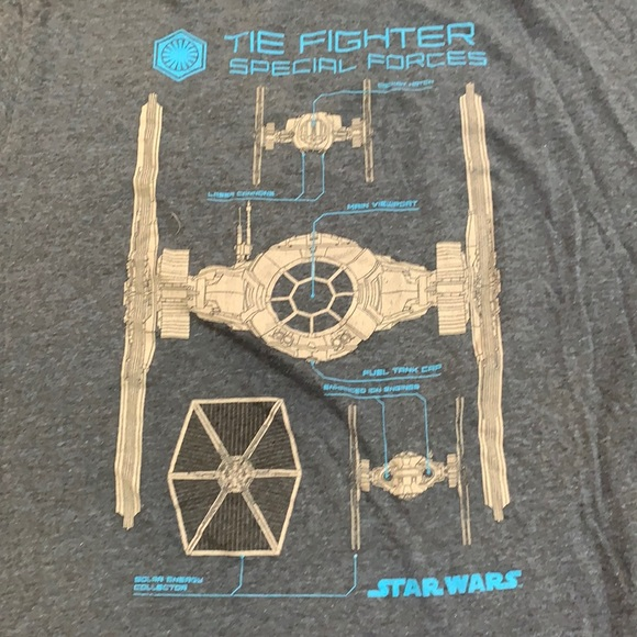 """3 FOR $20 Star Wars """"The Fighter"""" T-Shirt XL"""